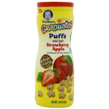 Gerber Graduates Puffs, Strawberry Apple, 1.48-Ounce (pack of 6) by USA that we recomend individually.