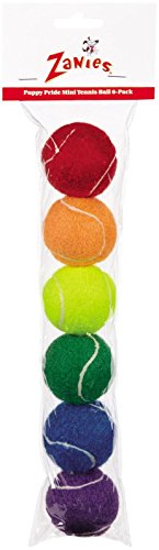 Zanies Mini Puppy Pride Tennis Balls for Dogs, 6-Packs (Mini Tennis Balls compare prices)