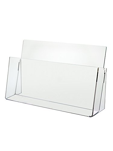 """Marketing Holders Clear Acrylic Counter Top Brochure Holder for """"11 x 8 1/2"""" Material"""