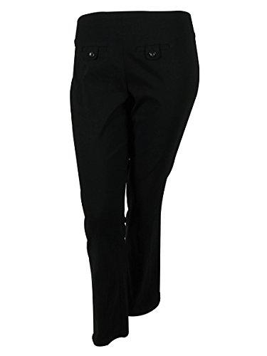 Style & Co. Womens Plus Comfort Waist Straight Leg Dress Pants Black 3XWP