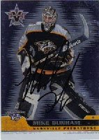 Buy Mike Dunham Nashville Predators 2002 Pacific Vanguard Autographed Hand Signed Trading Card by Hall of Fame Memorabilia