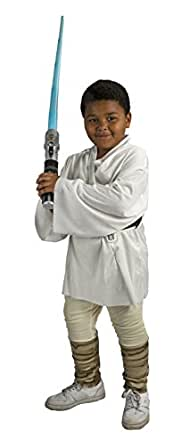 Rubies Star Wars Kids Deluxe Luke Skywalker Costume w/ Star Wars Lightsaber