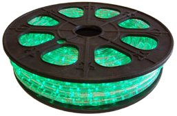Cbconcept 120Vlr-65Ft-G Green 65-Feet 120-Volt 2-Wire 1/2-Inch Led Rope Light, Christmas Lighting, Indoor/Outdoor Rope Lighting front-466451