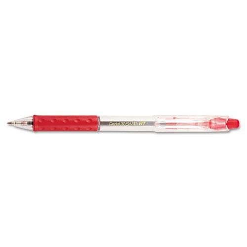 PENTEL OF AMERICA BK93B R.S.V.P. RT Ballpoint Retractable Pen, Red Ink, Medium, Dozen pentel r s v p razzle dazzle ballpoint pen