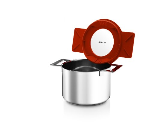 Eva Solo Gravity Cookware - Stainless Steel 3.0 L Cooking Pot with Multifunctional Lid