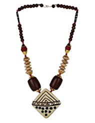 Modish Look Beautiful Brown Shining Beaded Long Necklace:Women's Jewellery