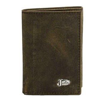 Justin Bay Apache Distressed Tri-fold Wallet