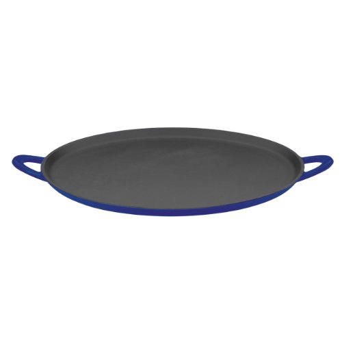 Mario Batali 826827 Enameled Cast Iron Pizza Pan And Griddle, 12-Inch, Cobalt