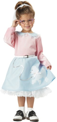 Toddler 50's Poodle Skirt Costume Size 3-4T