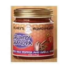 Henrys Humdingers Grumpy Grandpa Spicy Red Pepper and Garlic Honey, 6 Ounce -- 6 per case.