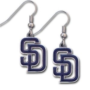 San Diego Padres Dangle Earrings - MLB Baseball Fan Shop Sports Team Merchandise