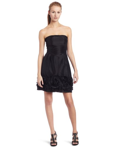 Maxandcleo Women's Strapless Pleated Dress, Black, 4