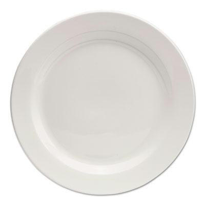 "Brand New Office Settings Chef'S Table Porcelain Round Dinnerware Dinner Plate 10"" Dia White 8/Box"