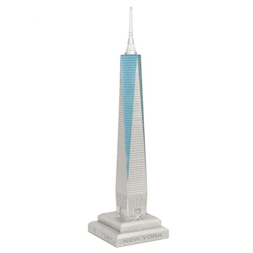 Scaled One World Trade Center Model, Freedom Tower Replica Statue, 15 inches, Made in USA (World Trade Center Model compare prices)