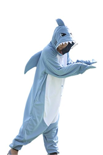 WOTOGOLD Animal Cosplay Costume New Shark Unisex Adult Pajamas Sky Blue (Kigurumi Shark compare prices)
