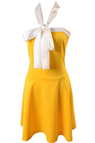 [Goodcosplay Cosplay Levy McGarden Dress Attire Party Dress Yellow Girl] (Levy Fairy Tail Costume)