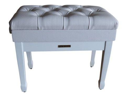tabourets banquettes et si ges banc pour piano blanc. Black Bedroom Furniture Sets. Home Design Ideas