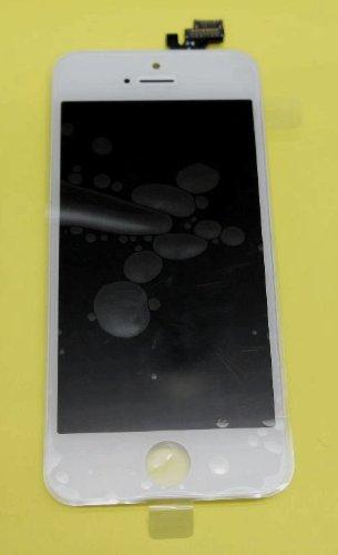 iPhone5 フロントパネルセット(フロントガラスデジタイザ) タッチパネル 液晶パネルセット 修理交換用 白(ホワイト)