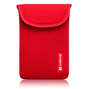 SAMSUNG GALAXY NOTE NEOPRENE POUCH / CASE / COVER / SKIN BY SHOCKSOCK - RED PART OF THE QUBITS ACCESSORIES RANGE