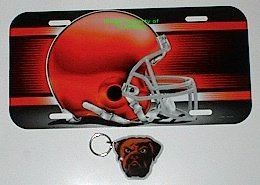 Cleveland Browns License Plate & Key Ring Auto Set