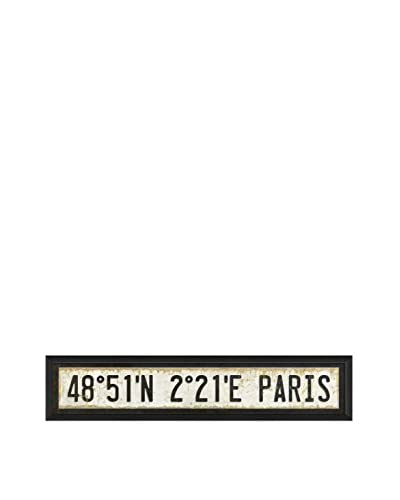 The Artwork Factory Paris City Coordinates Framed Art