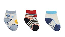 3 Pairs Kids/Baby/Toddler Socks Non-skid Home/Outdoor Socks [A]