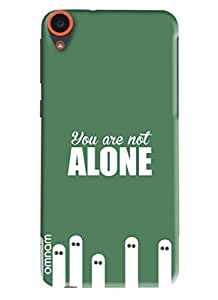 Omnam quote you are not alone printed back cover for HTC Desire 820