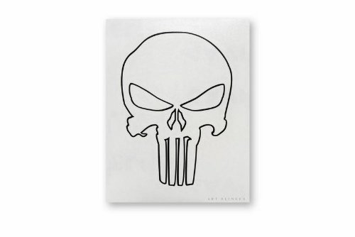C&D Visionary Punisher Skull Outline 4 Rub-On Balck - 1