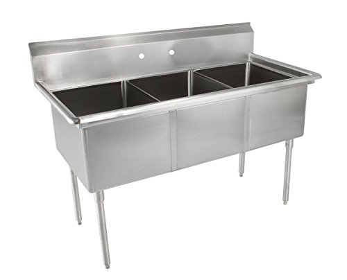 John Boos E Series Stainless Steel Sink Multi Bowl 3 Compartment 35 Length X 19 1 2 Width