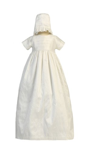 Swea Pea & Lilli Baby-Girls Silk Heirloom Family Gown With Two Hats