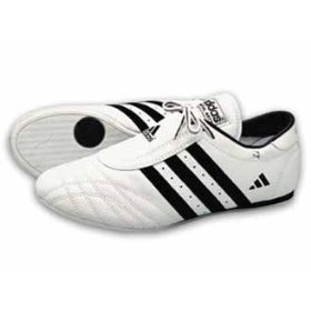 Adidas SM II Shoe White w/Black Stripes, 12