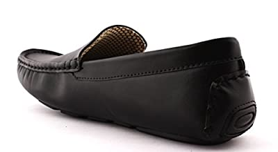 ALestino Leather Look Driving Casual Loafers