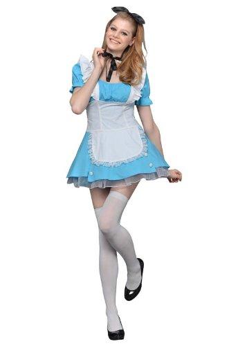 リボン カチューシャ 可愛い アリス ジャンパースカートになった素敵なコスチューム cos コスプレ コスプレ衣装 Mサイズ