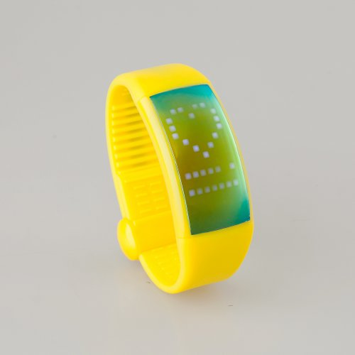 9BWIK0 ForTech 3D Pedometer Watch, Yellow