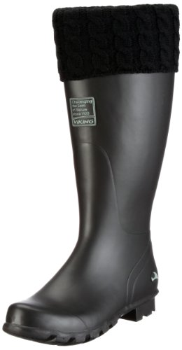 Viking RUBY WINTER Rubber Boots Womens Black Schwarz (schwarz 2) Size: 6.5 (40 EU)