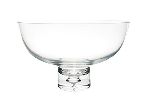 Flower Glass Vase Decorative Centerpiece For Home or Wedding by Royal Imports - Fruit Bowl Short Stem 10