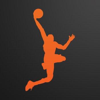 Basketball Player shots dunk... Orange (09 X 5.4 inch) ZEWWW