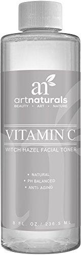 Art Naturals Vitamin C Toner 236 ml, Feuchtigkeitsspendendes Gesichtswasser   mit Naturreinem Aloe Vera, Hamamelis, Teebaum & MSM   Anti-Aging   Porenverfeinernde   Entzündungshemmend   Hilft gegen Akne thumbnail
