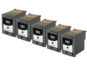 Abacus Remanufactured Ink Cartridge Replacement for HP CC635A ( Black , 5-Pack )
