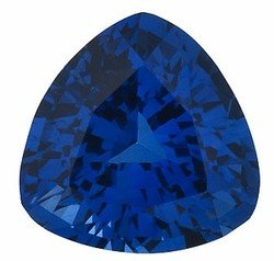 Trillion Shape Blue Sapphire Faceted Real Gemstone, Quality Grade, AA 0.22 carats 3.50 mm