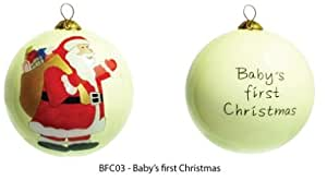 Baby's First Christmas Hand Painted Christmas Tree Bauble