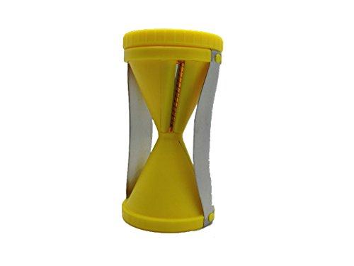 sufely® Reibe, Edelstahl Schraube Schnitt Gerät & # xff1b; Multifunktions Reibe & # xff1b; Shred Trichter Gerät & # xff1b; Geschirr. gelb