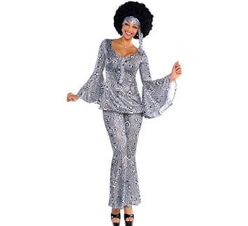 Amscan International Adults Dancing Queen 70's Costume (UK 8-10, 10-12)