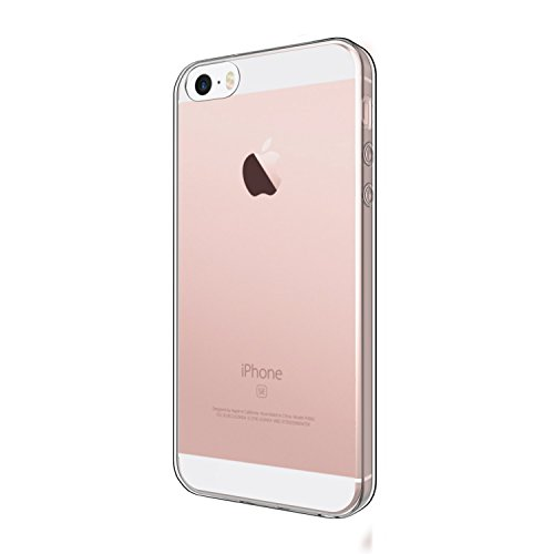EasyAcc iPhone SE 5S 5 TPU Case Cover Soft Crystal Clear Transparent Slim Anti Slip Case Back Protector Cover Shockproof for iPhone SE 5S 5
