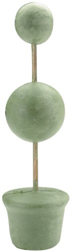 Floracraft Topiary Forms Bulk, 2-Inch and 3-Inch Balls Base 14-Inch Tall, Green