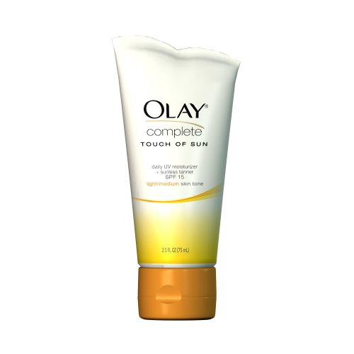 Olay Complete Touch of Sun Daily UV Moisturizer, SPF 15, Lighter/Medium, 2.5 Ounce (Pack of 2)