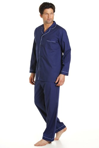 Haigman Mens Plain Pyjamas PJs Pajamas - Colours + Sizes