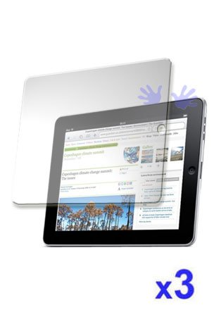 ( 3 packs )iPad Screen Protector LCD Screen Guard with Anti-reflective and Scratch-proof for Apple iPad (PET material )
