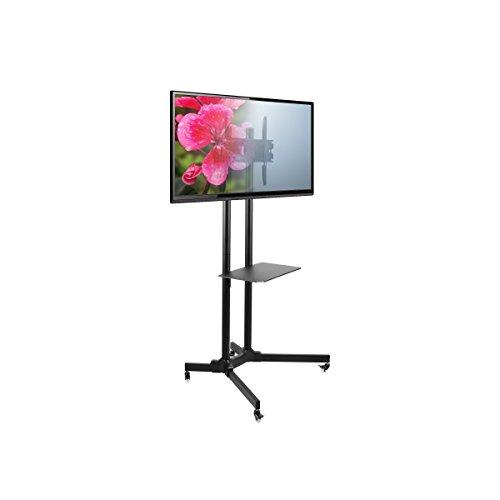 Seneca AV Height Adjustable Mobile Flat Panel TV Mount , Black (SM61) (Flat Panel Cart compare prices)