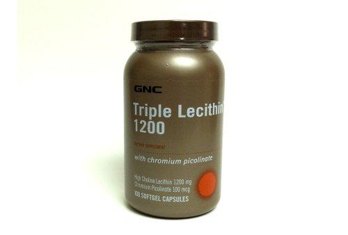 Gnc Triple Lecithin 1200 With Chromium Picolinate, 100 Softgel Capsules